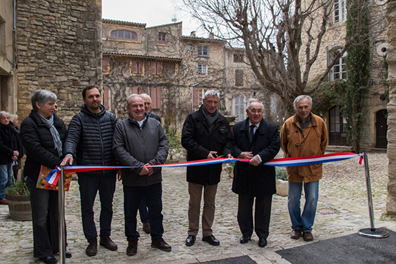 Inauguration travaux Saignon