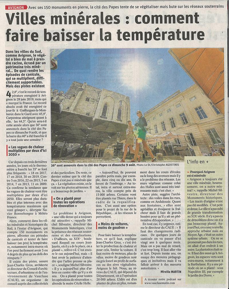 Villes minérales : comment faire baisser la chaleur