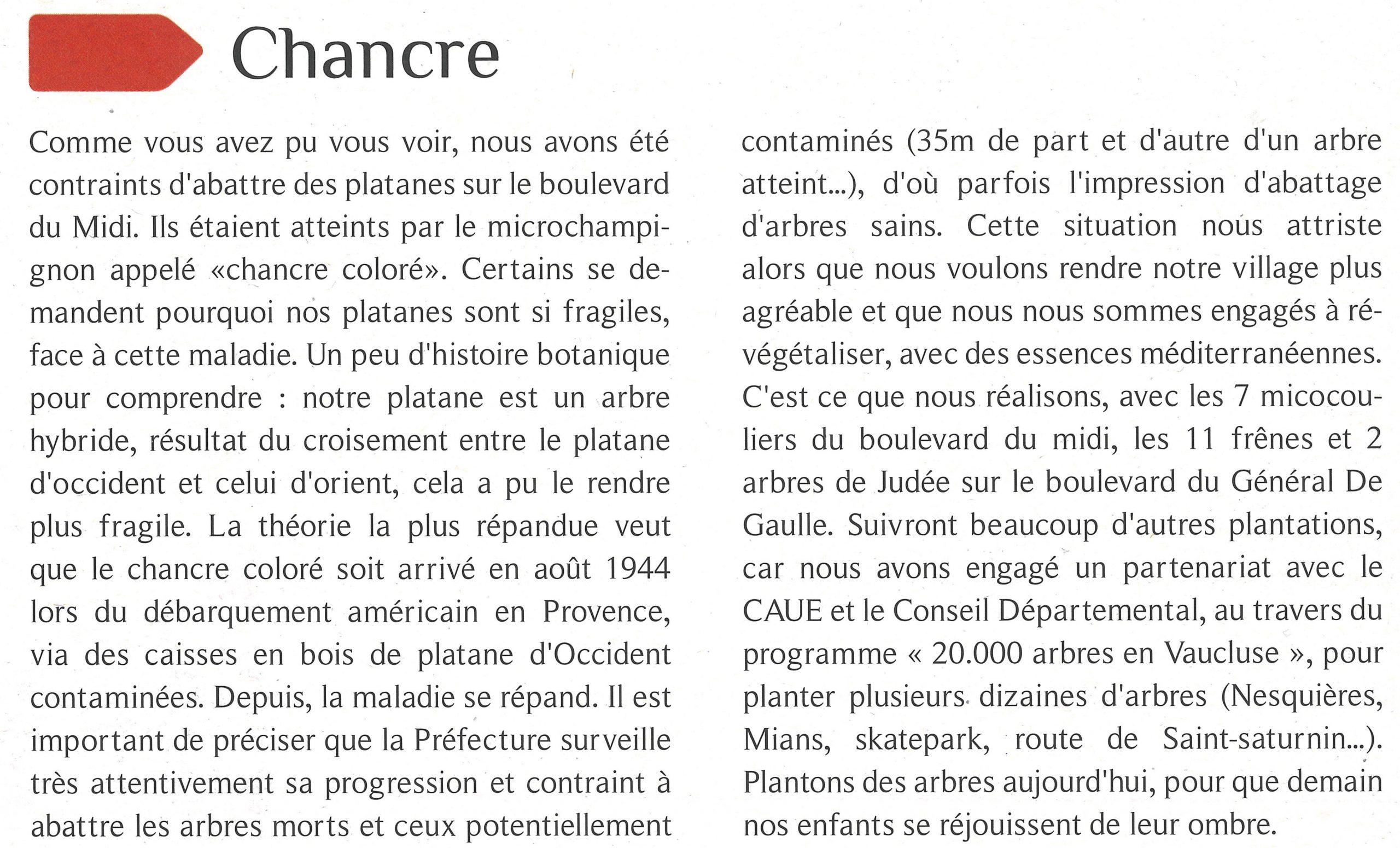 Article Velleron 20000 arbres